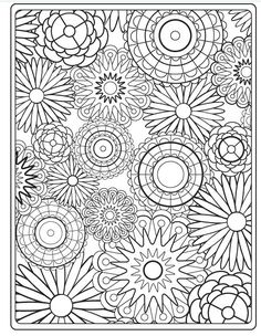 coloring page flowers didd doodl, chouett coloriag, embroidery patterns, adult color, circl, printable flower patterns, gyro, floral designs, color sheets
