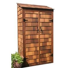 Greenstone 3 ft. x 2 ft. Cedar Garden Hutch Tool Shed-GS32ACGH at The Home Depot