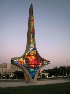 The symbol of Damascus Sword in the Umayyad Square, middle of Damascus. How I pray for Syria.
