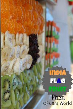 India Flag Fruit Pizza