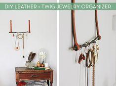 Make It: DIY Leather and Twig Jewelry Organizer » Curbly   DIY Design Community