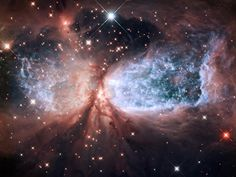 Hubble Serves Up a Holiday Snow Angel. The bipolar star-forming region, called Sharpless 2-106, looks like a soaring, celestial snow angel.