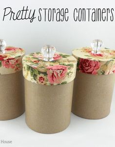 #DIY Pretty Storage Containers to store your pretty little things.