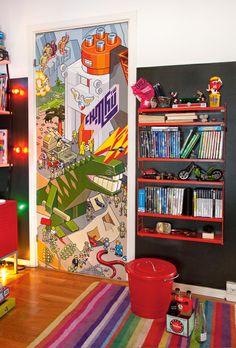 eclectic colourful kids' rooms via Milk magazine