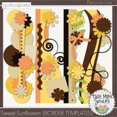 Sweet Sunflowers BORDER TEMPLATES