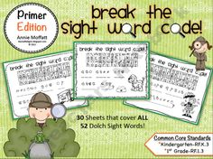 Break the Sight Word Code Primer Edition