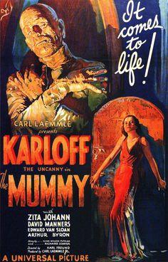 the mummy, graphic design, mustang, mummi 1932, horror movies, universal studios, classic movies, film posters, horror films