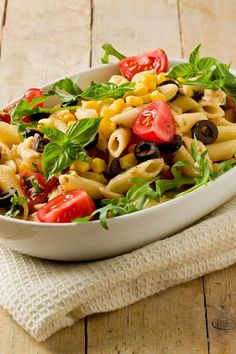 Mexican Pasta with Black Beans, Corn & Tomatoes Dinner #Recipe