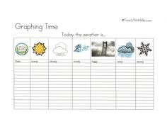 Free template, this is great for kids to learn about the weather