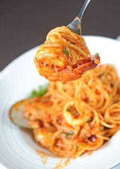 Shrimp Diablo pasta recipe