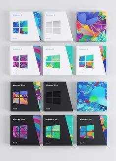 I may not feel that Windows 8 goes far enough into the new as an OS, but they've definitely got some enviable packaging. Clean and fun.