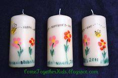 mothersday, gift ideas, candles, fingerprints, mother day gifts, kids, mothers day crafts, craft ideas, fingerprint candl