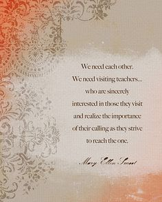 Visiting Teaching Inspiring Quote #LDS