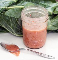 Jam use alert!  Strawberry jam vinaigrette (any jam, really)