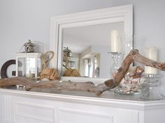 Summer-Inspired Mantel - Decorate Your Mantel Year Round on HGTV