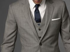 Indochino Light Gray Three Piece Suit $449