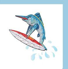 Paper quilling sword fish