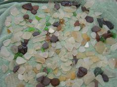 Sea glass from CA beach