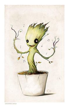 'I Am Cute': 16 Pictures That Prove Groot Is the Most Adorable Superhero - Beyond the Box Office - Zimbio