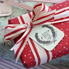 Letterpress gift tag
