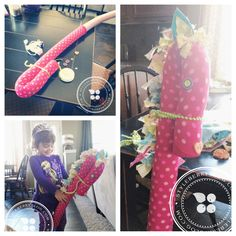 Make a stick horse with a pool noodle