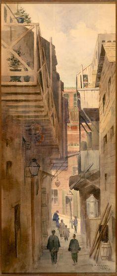 Chinatown Alley, 1896