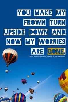 Hot Air Balloon Birthday Theme #birthday #party #quotes #hot air balloon #ideas