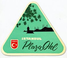 Awesomeness in the form of a vintage luggage label from #Istanbul. Totally feelin' the color palette.