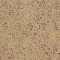 Calais in Wine on Wheat from Rose Tarlow Melrose House #textiles #fabric #hemp #floral #neutral #brown