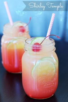 Shirley Temple Recipe with or without alcohol.