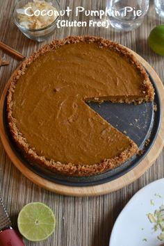 #Coconut Pumpkin Pie - #Gluten free. Need we say more?