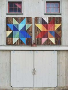 Joe Swec Paints a Modern Day Quilt Motif on the Side of a Barn in Vermont #design #creativity trendhunter.com
