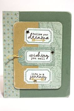 Follow Your Dreams Card by Heather Nichols for Papertrey Ink (June 2012)