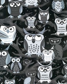 owl pattern ♥ Night Owls from equilter