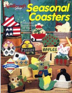 Free Plastic Canvas Magnet Patterns | SEASONAL COASTERS - Plastic Canvas Pattern Book - Like New ...