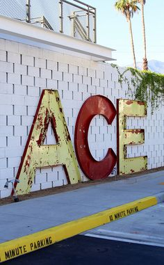 Ace Hotel, Palm Springs. Lettering for t.