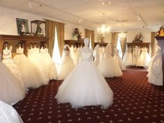 Inside Catan Fashions' Couture Salon. We carry Lazaro, James Clifford, Jim Helm, Tara Keely, Kenneth Pool and many more couture designers. Catan Fashions is the largest destination bridal salon in the country. Located just minutes from Cleveland Hopkins Airport www.catanfashions.com