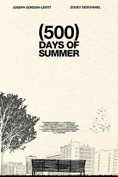 (500) Days of Summer film, movi poster, art, book, favorit movi, posters, summer movies, design, 500