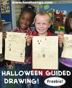Halloween Guided Drawing By HeidiSongs