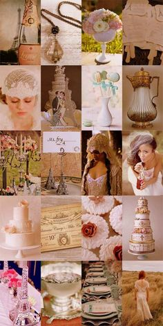 French Vintage Bridal Wedding Theme - Bring Paris to your big day by drawing inspiration from our collection of French and Vintage wedding theme ideas. #French # Vintage #Bridal #Wedding GORGEOUS & ROMANTIC!!!!
