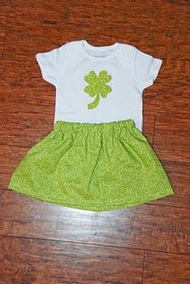 st patrick's day shirt and skirt