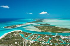 Idyllic island: Water Cay, in Turks and Caicos in the Caribbean, has gone on the market with Sotheby's International for £36m