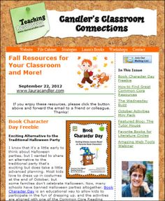 Free Candler's Classroom Connections newsletter - September 22, 2012 - To receive this newsletter each week in your inbox, sign up at Teaching Resources http://www.lauracandler.com/signup.php