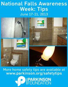 National falls awareness week on pinterest for 5 bathroom safety tips