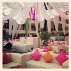 Ramadan is our time to splash color and modernize our lounge in the middle of The First Mall what do you think #EGYPT