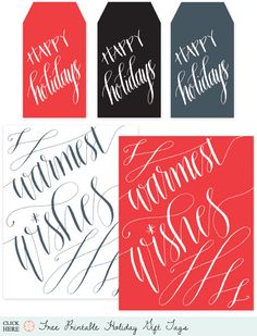 must love printables - holiday gift tags