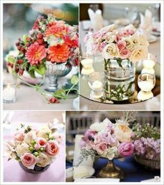 Fleurs bouquet on pinterest 16 pins - Bouquet centre de table ...