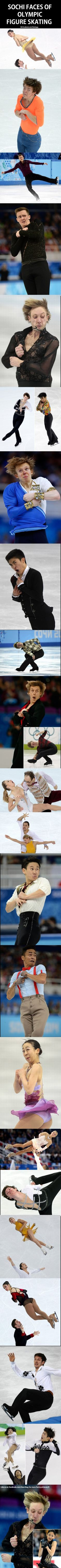 figure skating, the face, olymp figur, funny pictures, funni