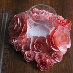 paper flowers centerpiece