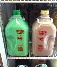 The days are getting longer and people are starting to come out more. Spring is coming and there's no better way to celebrate than a 1/2 Gallon Glass Jug of Byrne's Mint Milk!